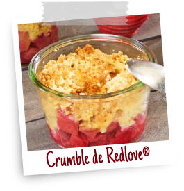 recette crumble pomme redlove chair rouge